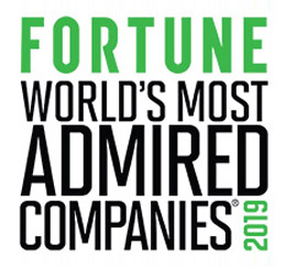 Fortune World's Most Admired 2019