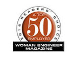 Top 50 Employer - Woman Engineer Magazine - 2016