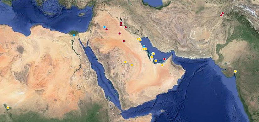 Fluor projects in the Middle East and globally