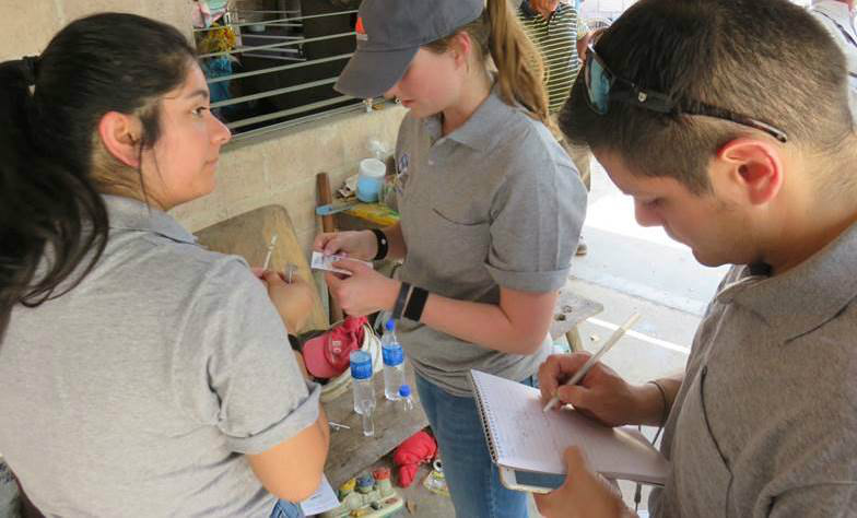 Engineers Without Borders team tests water quality