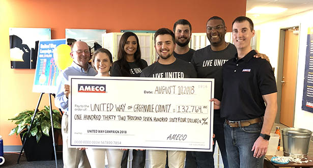 AMECO and its employees increased giving by 10 percent in 2018
