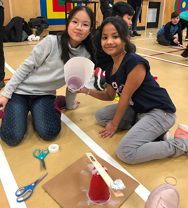 Willoughby Elementary School Fluor Engineering Challenge