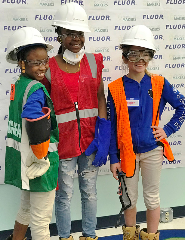 Movers & Makers students model personal protective equipment