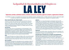 Equal Employment is the Law (Spanish)