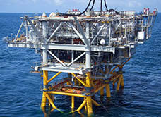 BG Limited Poinsettia Offshore Oil Platform