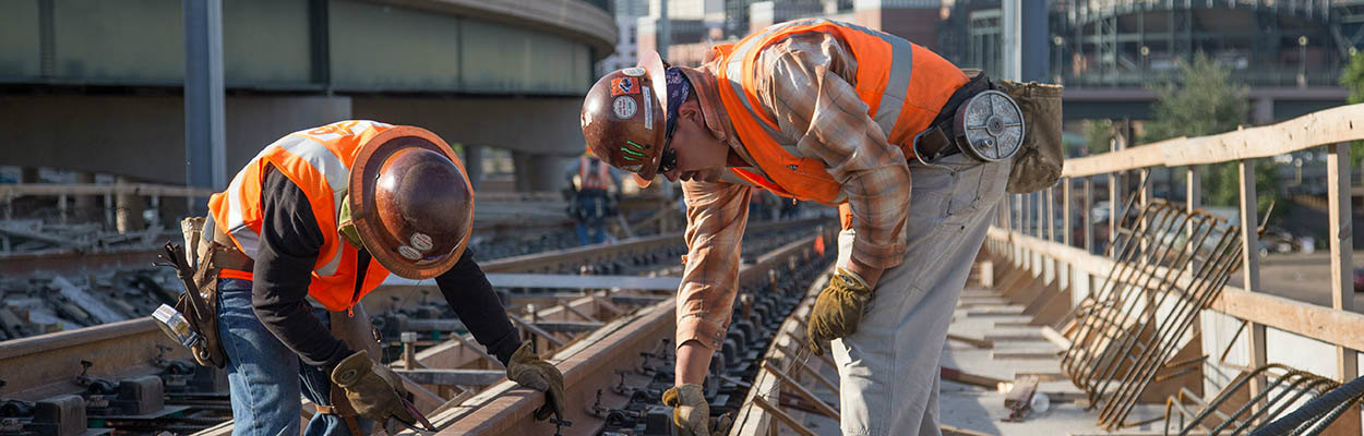 Commuter rail line construction