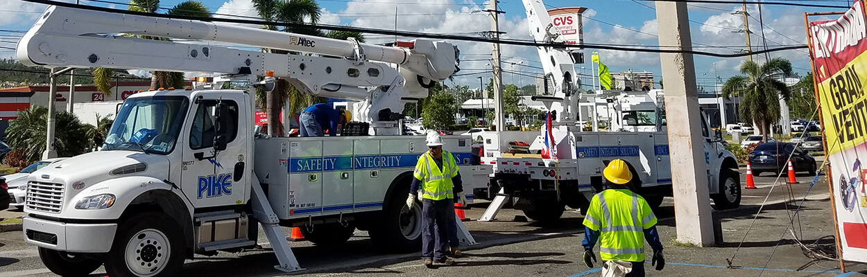Fluor subcontractor repairs downed power lines in Puerto Rico