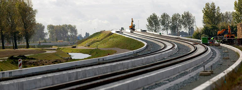 Dutch Ministry of Infrastructure High Speed Rail Line Design-Build