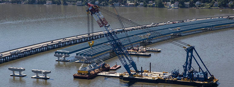 Eastbound span will soon connect to Westchester landing