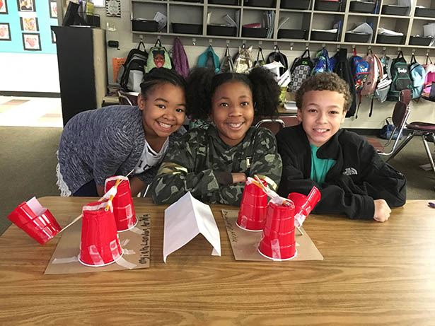 Students from the Visual and Performing Arts Magnet School in Jonesboro, Arkansas take on the Fluor Engineering Challenge