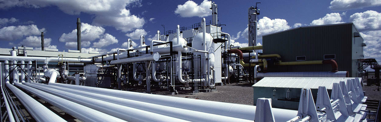 Natural gas liquids extraction plant site exterior - electric conversion