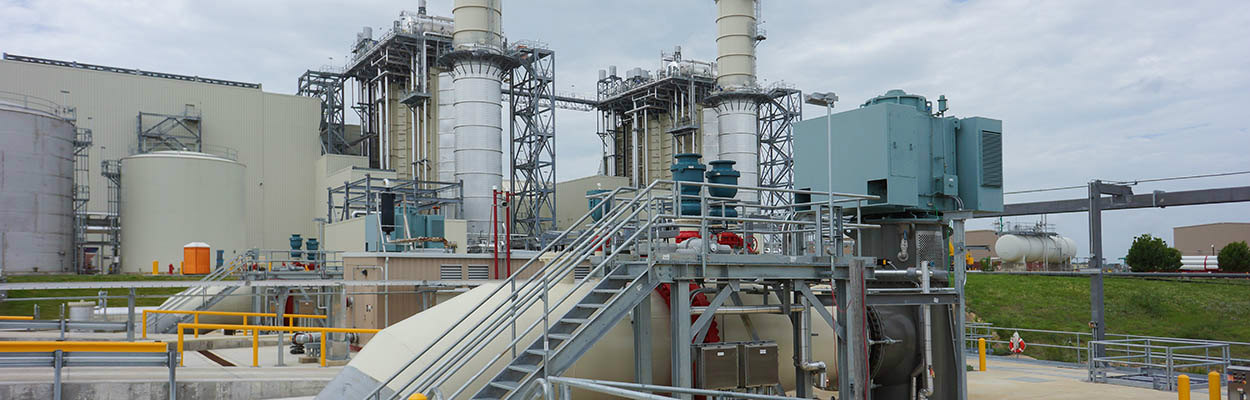 Gas-fueled power plant - engineering